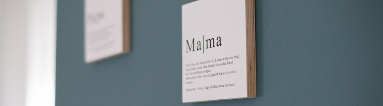 Bild Wandbild Mama